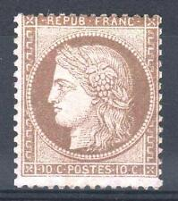 """FRANCE STAMP TIMBRE N° 58a """" CERES 10c BRUN FONCE SUR ROSE """" NEUF xx TB  P599"""