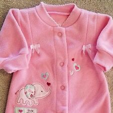 SWEET! BABY CHILD OF MINE BY CARTER'S PREEMIE FLEECE ELEPHANT FOOTED SLEEPER