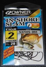 Owner 5373IS-091 In Shore Slam Size 2  K Hooks 28 pack Flounder Red Fish Trout