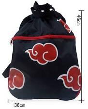 Anime Naruto Akatsuki Red Cloud Bag Backpack Rucksack Cosplay Casual