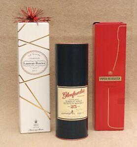 Glenfarclas 25 Years Laurent Perrier Piper-Heidsieck Empty Boxes Display Case