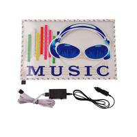 12V Car Sticker Colorful Sound Activated Equalizer Music Rhythm LED Flash Light