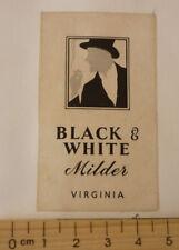 OLD CIGARETTE PACKET BOX LABEL, 1950s BLACK & WHITE MILDER