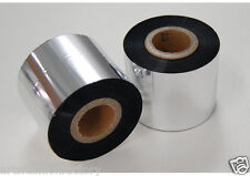 "2 Resin Ribbon for industrial Pvc Pe Barcode Label printers, 985' x 2.36"" Width"