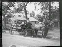 Vintage 1938 Photo Negative of Stagecoach in Santa Monica Parade ROTARY Club