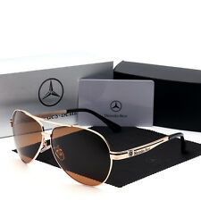 Mercedes Benz 2017 polarised sunglasses men woman AMG brand new golden
