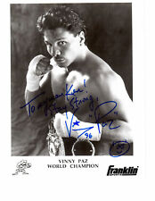 VINNY PAZIENZA SIGNED 8X10 MIDDLEWEIGHT CHAMP PAZMANIAN DEVIL Boxing