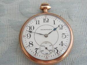 "Hampden ""109"" Railway pocket watch for restoration not working, needs mainspring"