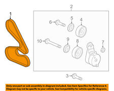 HONDA OEM 2017 Odyssey-Serpentine Drive Fan Belt 56992RV0A05