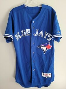 Majestic Authentic Toronto Blue Jays Day #8 Blue Baseball Jersey Mens 40 M Sewn