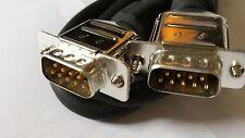 Hochwertiges SUB D 9pol SERIELLES Verbindungskabel 2xmale 1,8m metallisch gesch.