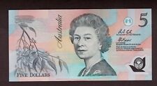 AUSTRALIA (1992) 5 DOLLAR FRASER COLE SIGNATURE POLYMER NOTE CH-UNC AA03731893