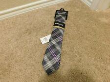 Brand new Haggar premium neckwear Purple, Black and white men's tie
