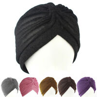 Fashion Men Women Stretchable Soft Indian Style Turban Hat Head Wrap Band Cap JH