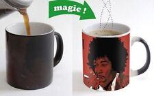 Jimi Hendrix Art Color Changing Magic Heat sensitive Tea Cup Coffee Mug gift USA