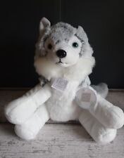 Doudou Peluche Chien Husky 25cm blanc gris chiné HO Studio Histoire d'ours Neuf