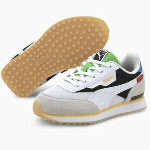 Puma Future Rider WH PreSchool (Kids Size 1) Athletic Shoe Trainer Sneaker