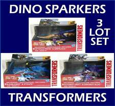 Transformers Dino Sparkers Set Bumblebee Strafe Optimus Grimlock Drift Slug New