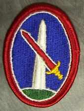 Embroidered Military Patch U S Army Military District Washington Dc New