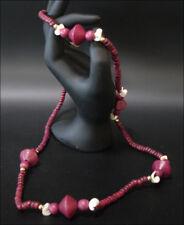 "Joya Collar Cadena de Madera Violeta ""Mejillón"" 80cm #153"