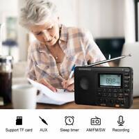 Retekess V115 Portable AM FM Radio Shortwave MP3 Player Sleep Timer Rechargeable