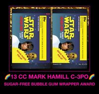 Topps STAR WARS SUGAR FREE digital CARD TRADER STORMTROOPER LUKE SKYWALKER AWARD