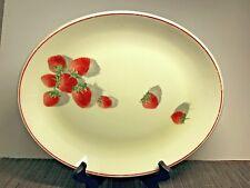 Vintage Cavitt Shaw Strawberry Summer Serving Plate Platter