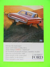 1963 CAR SALES PHOTO ART AD FOR THE '64 FORD GALAXIE 500/XL 2-DOOR HARDTOP