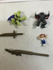 Vintage Mighty Max Figure Lot And Weapons