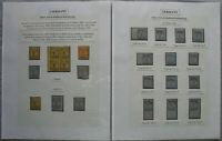 s2097) Privatpost Erfurt Ausstellungssammlung - mit Typen und 2 kompletten Bogen