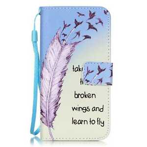 For iPhone 5/6/7/8 Samsung Fashion Magnetic Wallet Pattern PU Leather Case