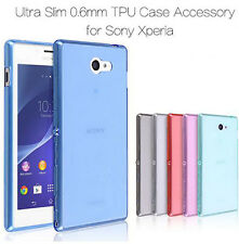 Clear Ultra Thin Soft Silicone Case Shockabsorber Cover For Sony Xperia Phones