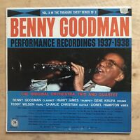 Benny Goodman ‎– Performance Recordings 1937-1938