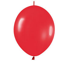 "50ct. FASHION RED Link-o-Loon 6"" Latex Helium Linking Balloons ARCHES ARBORS"