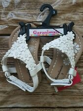 Girl  Infant Baby Garanimals Floral Pattern Sandal Dress Shoe White Sz 3