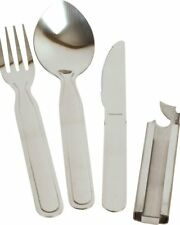 NATO KFS Set Camping cutlery Knife Fork Spoon Can Opener set Ration Pack