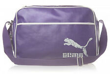 Puma Original Reporter Messenger Travel Holiday Sport Gym Shoulder Bag Purple