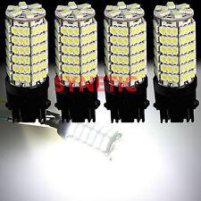 4x 3157 3156 Xenon 6000K White 120-SMD Chip LED Brake Stop Tail Light Bulbs