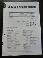 ORIGINALI service manual AKAI QUARTZ sintetizzatore sintonizzatore at-27 L at-37