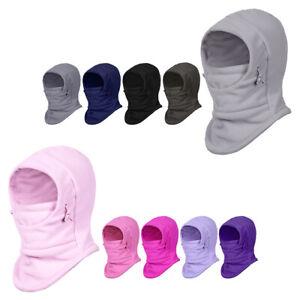 Kids Balaclava Hood Ski Face Cover Warmer Winter Thermal Sport Fleece Hat Unisex