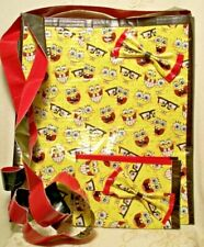 Handmade Lot of 2 Women Girl Duct Tape Wallet Purse Set Sponge-Bob Square-Pants