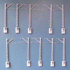 Hobbex OT102 TT Oberleitung, 10 Stück Flachmaste / Streckenmaste langer Ausleger