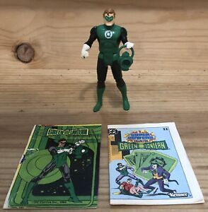 1984 Kenner DC Super Powers Green Lantern Action Figure ~ Comic and Stat Card
