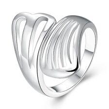 Ring Silber Zirkonia Kristall Verlobungsring Liebe Herz Damen Geschenk Neu