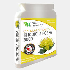 Rhodiola Rosea, High Strength - 5000mg  90 Caps, Stress Relief, Depression Aid