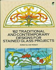 162 Traditional Contemporary Stained Glass Design Book, Books