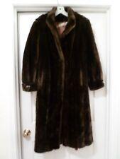 Vintage Furrage TISSAVEL France Dk Brown Faux Mink Fur Knee-Length Coat