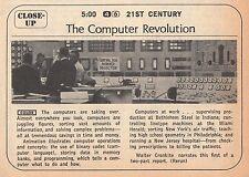 1968 Tv Guide Ad~The Computer Revolution~Walter Cronkite Narrates