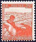 STAMP / TIMBRE DE FRANCE NEUF 1945 LUXE N° 736 ** AU PROFIT DES TUBERCULEUX
