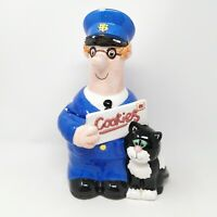Vintage 1997 Postman Pat Cookie Jar from by Woodland Animations Limited